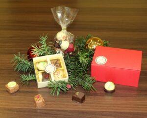 Weihnachtsfeier Mitarbeiterevent Kundenevent Pralinenherz