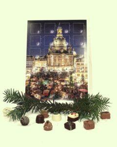 Weihnachtskalender mit handgefertigten Pralinen