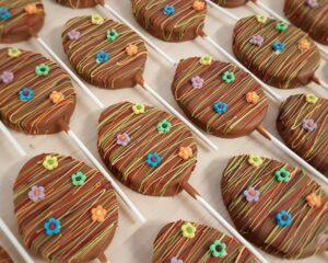 Schokoladen-Lolli Osterei